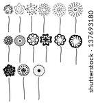 set of vectorized flowers | Shutterstock .eps vector #137693180
