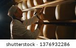 cheesemaker is controlling the...   Shutterstock . vector #1376932286