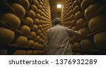 cheesemaker is controlling the...   Shutterstock . vector #1376932289