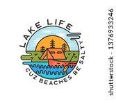 lake life logo design. modern... | Shutterstock .eps vector #1376933246