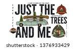 camping badge design. outdoor... | Shutterstock .eps vector #1376933429