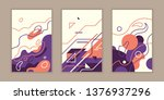 set of banners with various... | Shutterstock .eps vector #1376937296
