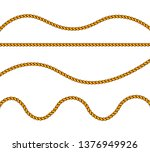 realistic fiber ropes. military ... | Shutterstock .eps vector #1376949926