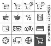 Shopping Icon Set. Vector...
