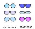 sunglasses in flat style. ... | Shutterstock .eps vector #1376952833