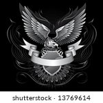 wild eagle upon the shield with ... | Shutterstock .eps vector #13769614