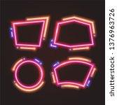 vector of neon banner design. | Shutterstock .eps vector #1376963726