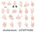 hands set. collection of...   Shutterstock .eps vector #1376974280