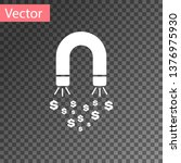 white magnet with money icon... | Shutterstock .eps vector #1376975930
