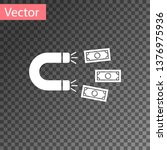 white magnet with money icon... | Shutterstock .eps vector #1376975936