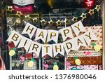 garland of flags with the... | Shutterstock . vector #1376980046