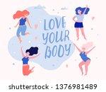 happy beautiful active plus... | Shutterstock .eps vector #1376981489