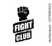 fight club vector logo with... | Shutterstock .eps vector #1376983313