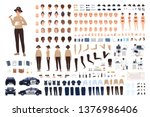 policewoman constructor set or... | Shutterstock .eps vector #1376986406