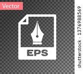 white eps file document icon.... | Shutterstock .eps vector #1376988569