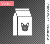 white bag of food for dog icon... | Shutterstock .eps vector #1376990060