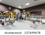 gym with special equipment ... | Shutterstock . vector #137699678