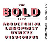 the bold typography | Shutterstock .eps vector #1377003179