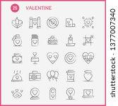 valentine hand drawn icons set...