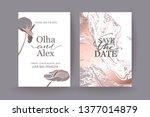set of elegant chic brochure  ... | Shutterstock .eps vector #1377014879