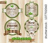 eco labels set | Shutterstock .eps vector #137702060