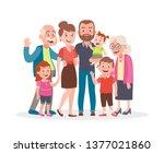family portrait. parents ... | Shutterstock .eps vector #1377021860