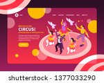 isometric circus performers... | Shutterstock .eps vector #1377033290