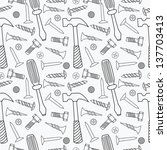 tools seamless pattern. vector... | Shutterstock .eps vector #137703413