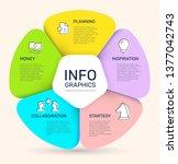 vector infographic pie chart... | Shutterstock .eps vector #1377042743