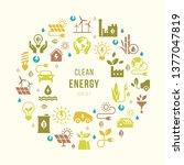 green and alternative energy... | Shutterstock .eps vector #1377047819