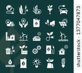 set of eco vector icons in flat ... | Shutterstock .eps vector #1377047873