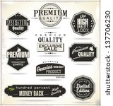 set of vintage retro premium... | Shutterstock .eps vector #137706230