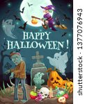 Happy Halloween Lettering And...