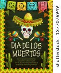 day of the dead mexican holiday ... | Shutterstock .eps vector #1377076949