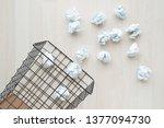 paper trash. crumple paper...   Shutterstock . vector #1377094730