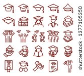 graduation cap and education  ... | Shutterstock .eps vector #1377105350