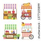 ice cream seller vector  hot... | Shutterstock .eps vector #1377105899