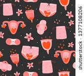 menstruation theme. period....   Shutterstock .eps vector #1377108206
