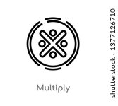 Multiply Vector Line Icon....