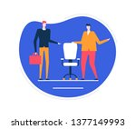 available vacancy   flat design ... | Shutterstock .eps vector #1377149993