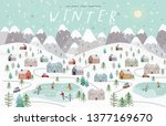 winter. cute vector... | Shutterstock .eps vector #1377169670