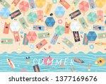 summer background. vector... | Shutterstock .eps vector #1377169676