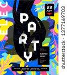 night party. vector gradient... | Shutterstock .eps vector #1377169703