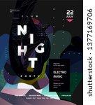 night party. vector gradient... | Shutterstock .eps vector #1377169706