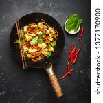stir fry chicken with... | Shutterstock . vector #1377170900