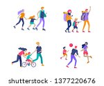 collection of family hobby...   Shutterstock .eps vector #1377220676