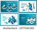 set of landing pages of the... | Shutterstock .eps vector #1377242183