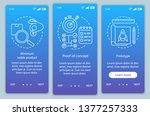 startup testing onboarding... | Shutterstock .eps vector #1377257333