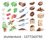 watercolor illustration set of... | Shutterstock . vector #1377263750
