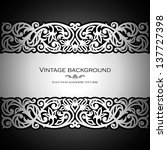 vintage black background ... | Shutterstock .eps vector #137727398